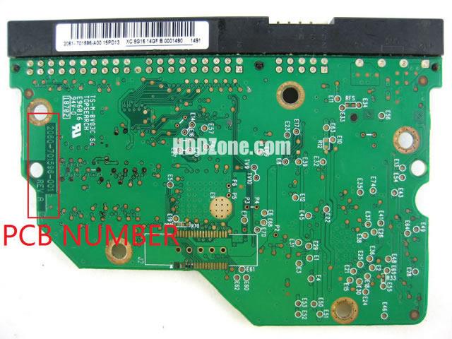 changer remplacer carte pcb disque dur western digital